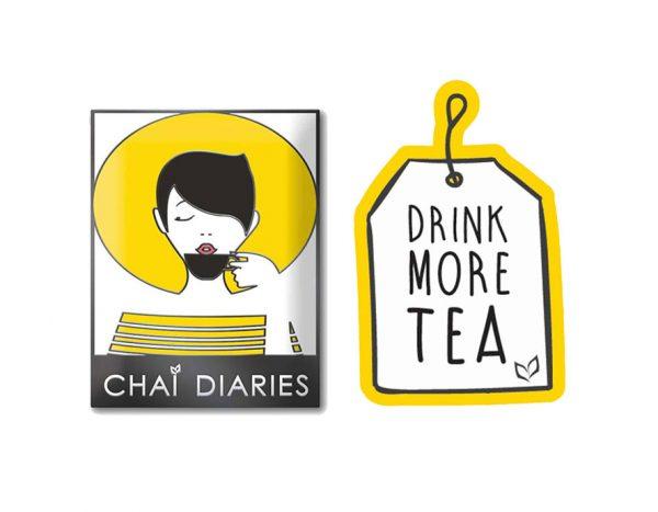 drink more tea pin set