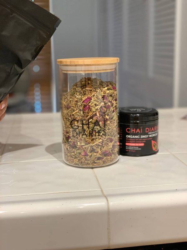 Chai Tea Glass Storage Jar